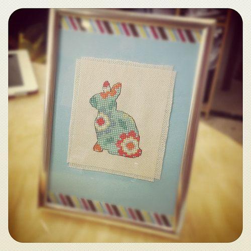 Tiny Stitches: Patterned Bunny cross stitch