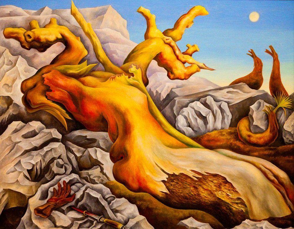 foto de Symbolic Landscape, 1940 by Diego Rivera | Diego rivera art, Diego ...