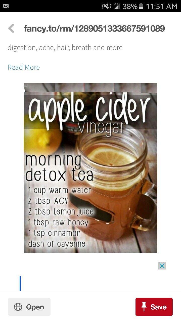 Pin by Allison Puig on drink Morning detox tea, Apple