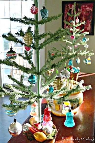 Feather Trees can better display gorgeous ornaments