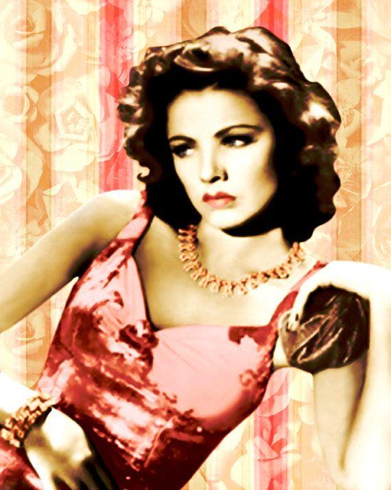 Glamour retro fashion goddess, digital print, vintage high fashion ...