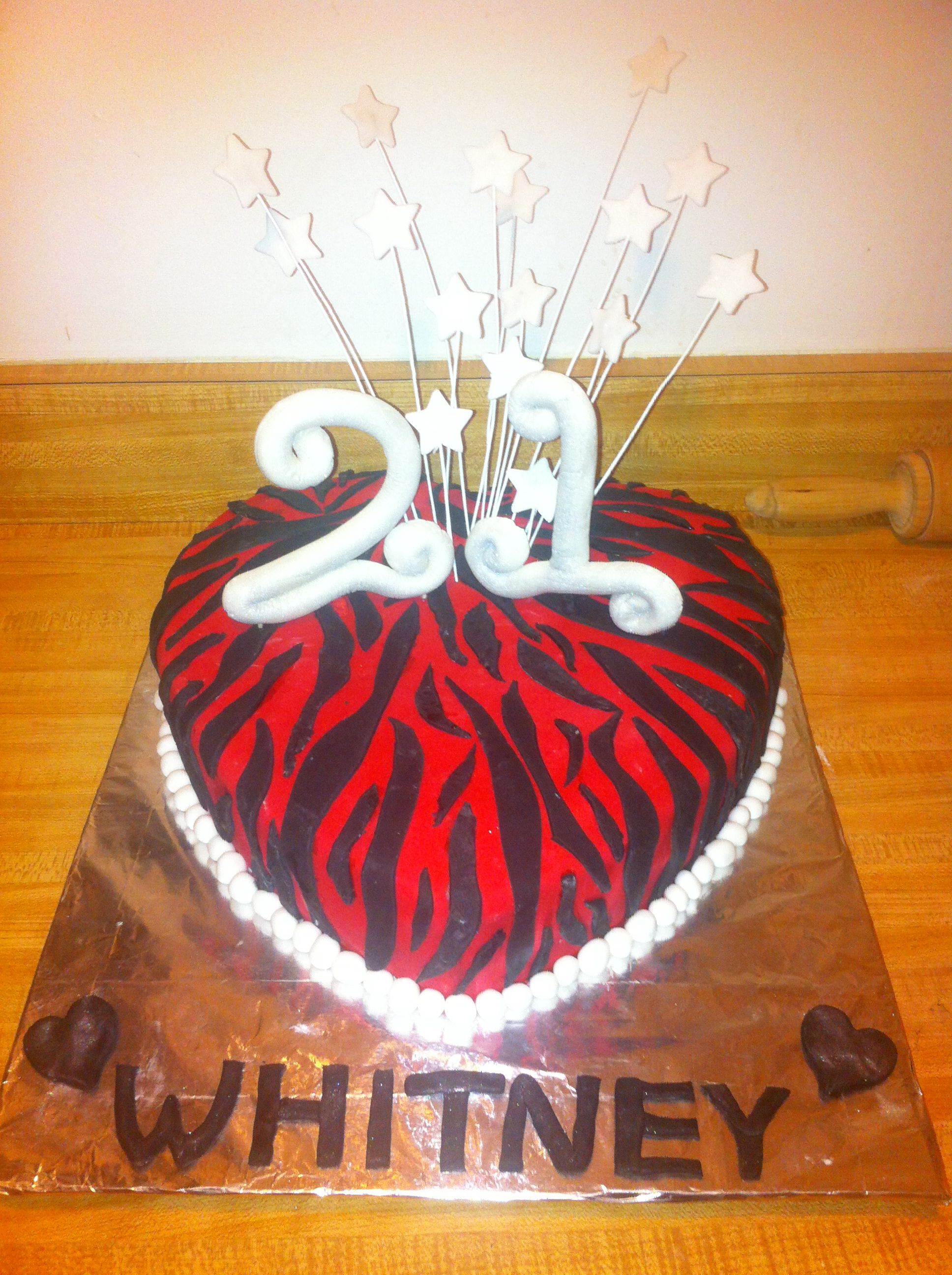 21st Birthday Cake Covered W Fondant Cakes By Coreice Pinterest