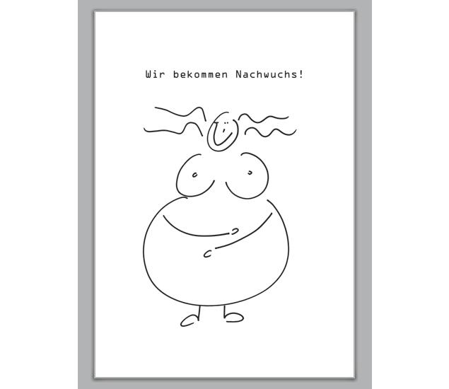 Glückliche Schwangerschafts Karte - http://www.1agrusskarten.de/shop/gluckliche-schwangerschafts-karte/    00012_0_1268, Anzeigenkarte, Baby, Geburt, Glück, Grußkarte, Helga Bühler, Klappkarte, schwanger, Schwangerschaft00012_0_1268, Anzeigenkarte, Baby, Geburt, Glück, Grußkarte, Helga Bühler, Klappkarte, schwanger, Schwangerschaft