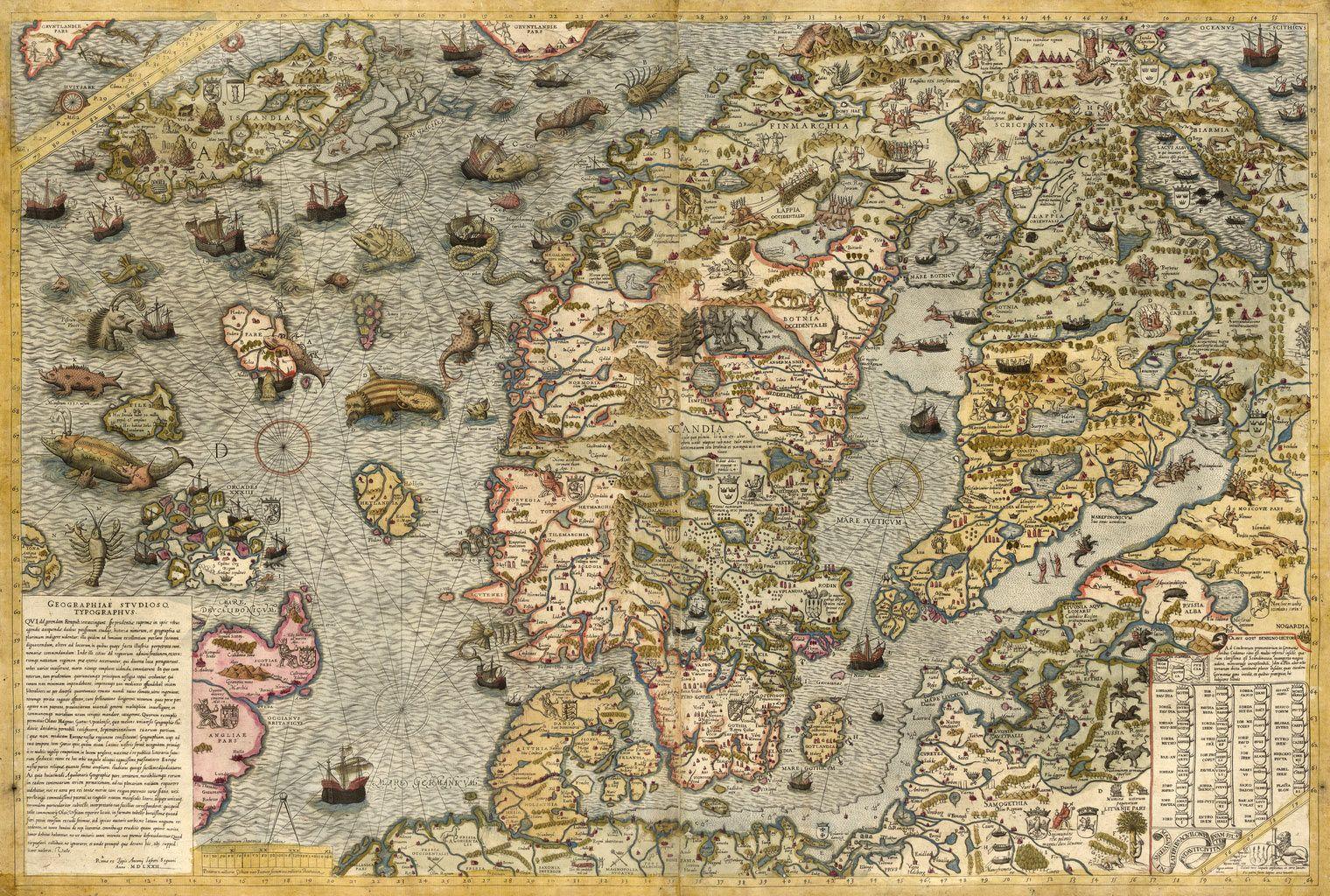 1539. Carta Marina et Descriptio Septentrionalivm