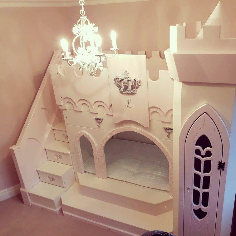 Alexa Princess Castle With Slide Small Spaces Bunk Bed Princess