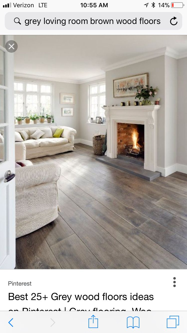 Light Grey Walls Light Wood Floors Farm House Living Room House