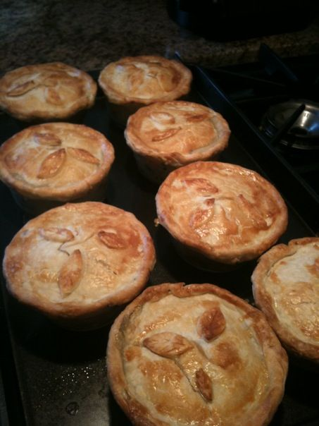 chicken pot pies-can you eat just one?! Hubby can't!