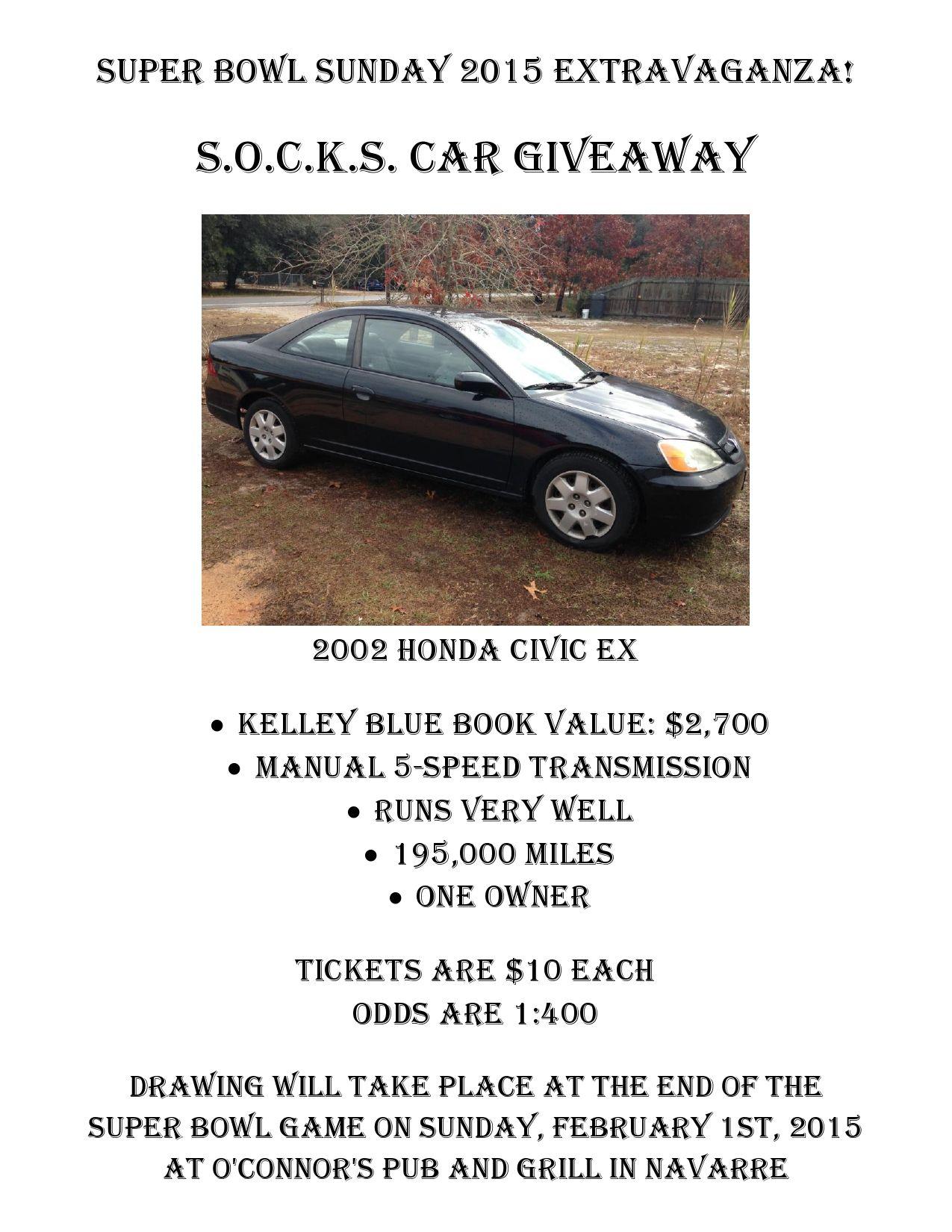 2015 Honda Civic Kbb : honda, civic, Could, Tickets, SOCKS, Thrift, Shop., Superbowl, Game,, Super, Bowl,, Sunday