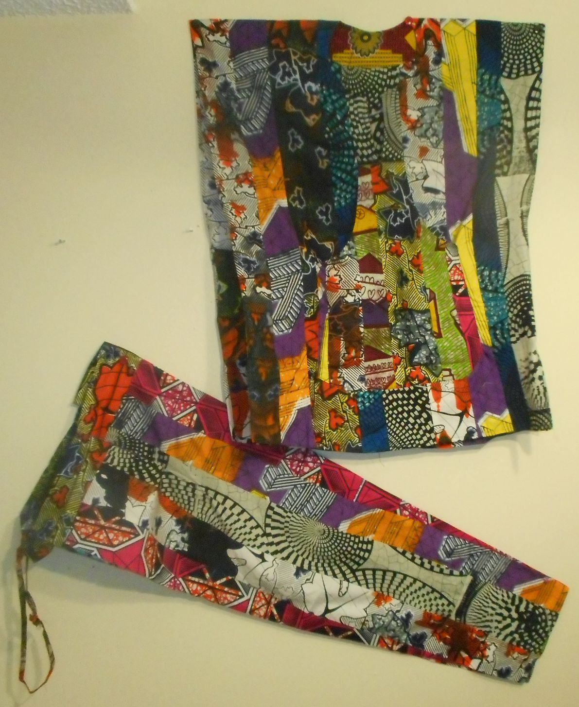 AFRICAN Patchwork (Baye Fall) Pants Set - AMIR by soumahstore on Etsy