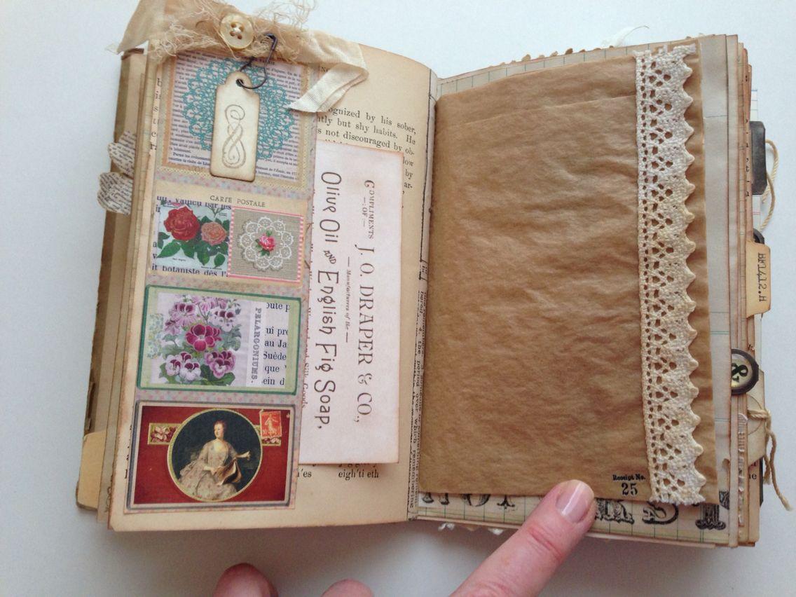 Vintage Ephemera Junk Journal Handmade Journals Handmade Books Vintage Journal