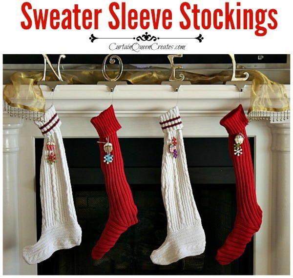 Sweater Sleeve Stocking DIY Sewing Pattern   Sewing patterns ...