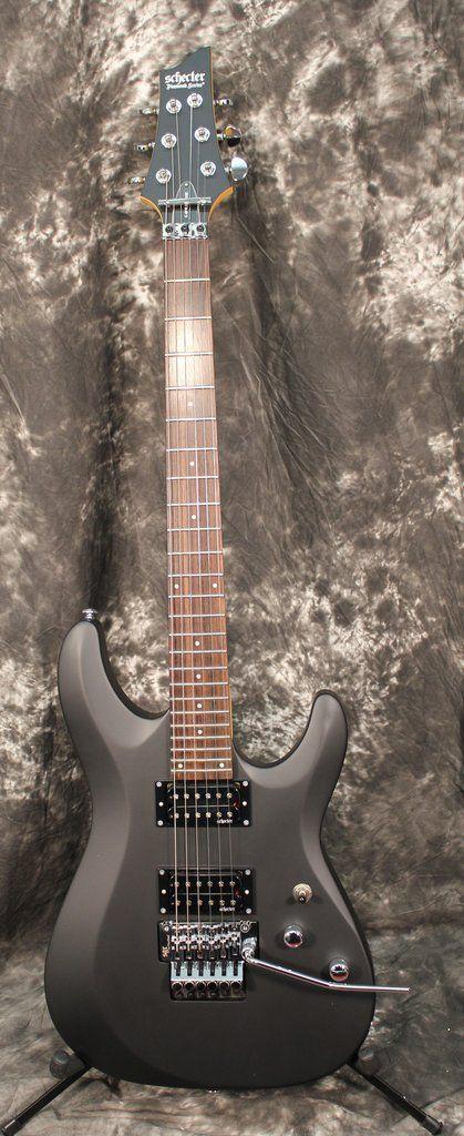 Schecter Guitar Research C-6 Deluxe Floyd Rose Tremolo Electric Guitar Satin Black