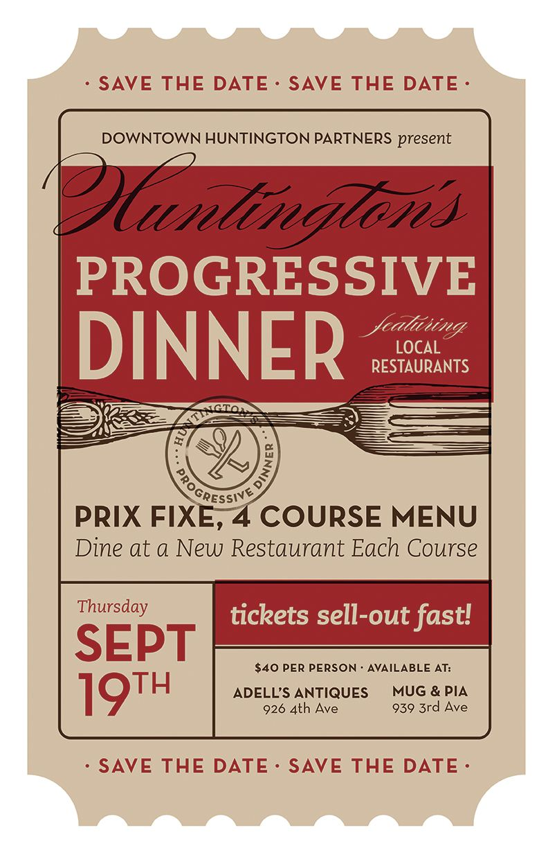 progressive dinner poster by trish ward design ticket progressive dinner poster by trish ward design ticket savethedate
