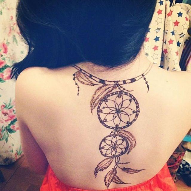 3d0d43ed3 Medium back henna tattoo | Medium Brown Henna Tattoo Images ...