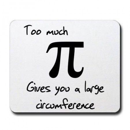 Pi Circumference Mousepad Math Puns Math Humor Math Jokes