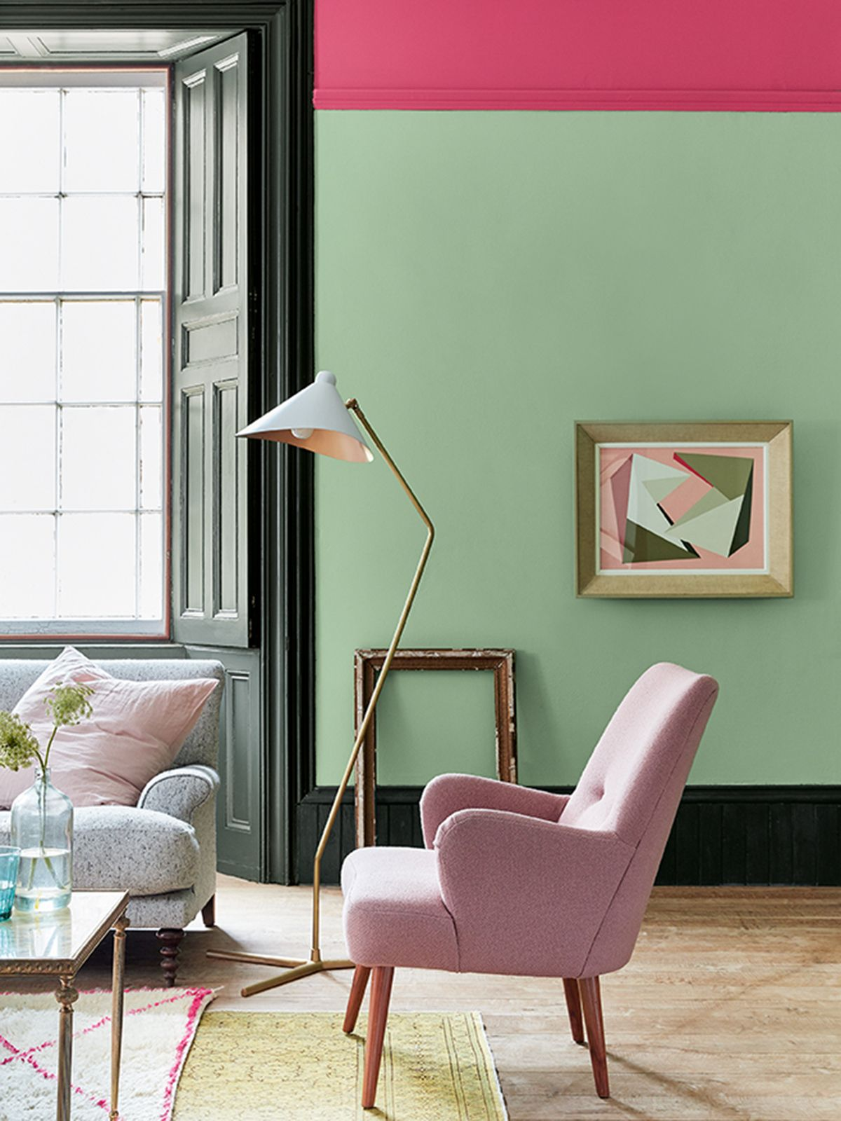 My Latest Colour Crush Is Mint Green For It S Fresh Uplifting Tone This Pastel Shade Works Extremely We Living Room Green Small Room Design Living Room Paint