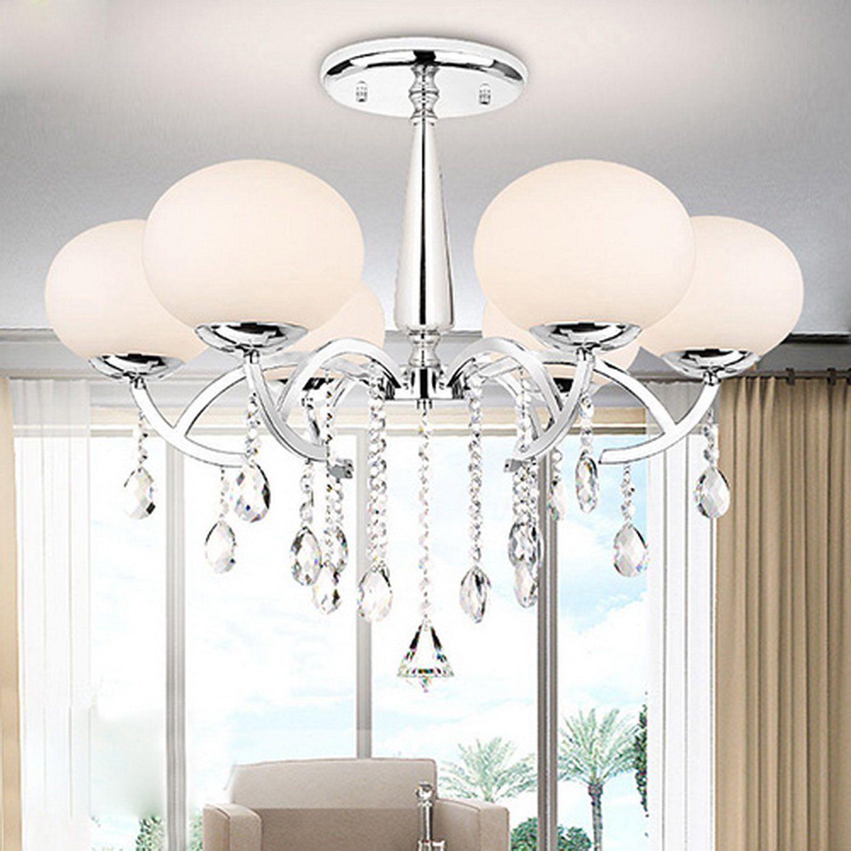 Lightinthebox modern elegant 6 light chandelier with global shade lightinthebox modern elegant 6 light chandelier with global shade morden simple home ceiling light fixture arubaitofo Choice Image