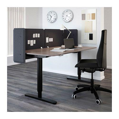 BEKANT Abschirmung für Schreibtisch, grau | Trennwände ...