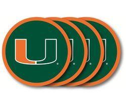 Miami Hurricanes Coaster Set - 4 Pack