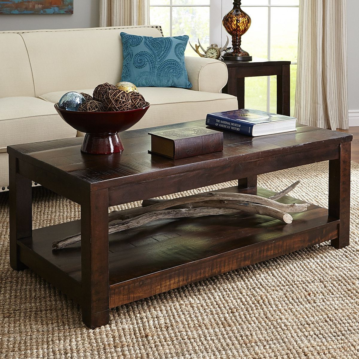 Parsons End Table Pier One: Parsons Tobacco Brown Coffee Table