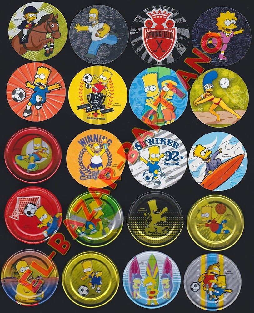el-bazar-bartiano: Lote Tazos Los Simpsons http://el-bazar-bartiano.blogspot.com/