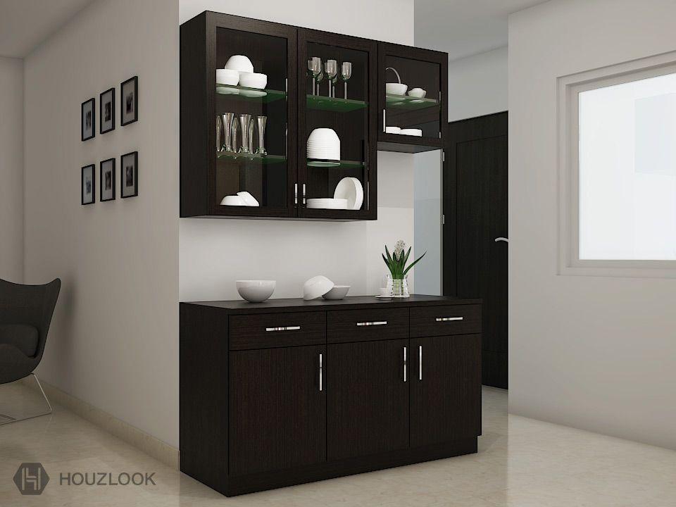 Image result for crockery cabinet designs | Crockery unit ...