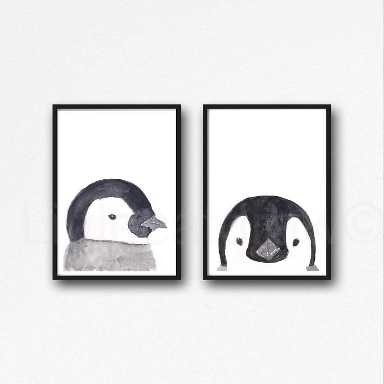 Penguin Wall Hanging Nursery Decor Once Upon A TIme There Was A Girl Who Really Loved Penguins That Was Me-The End Poster Penguin Decor