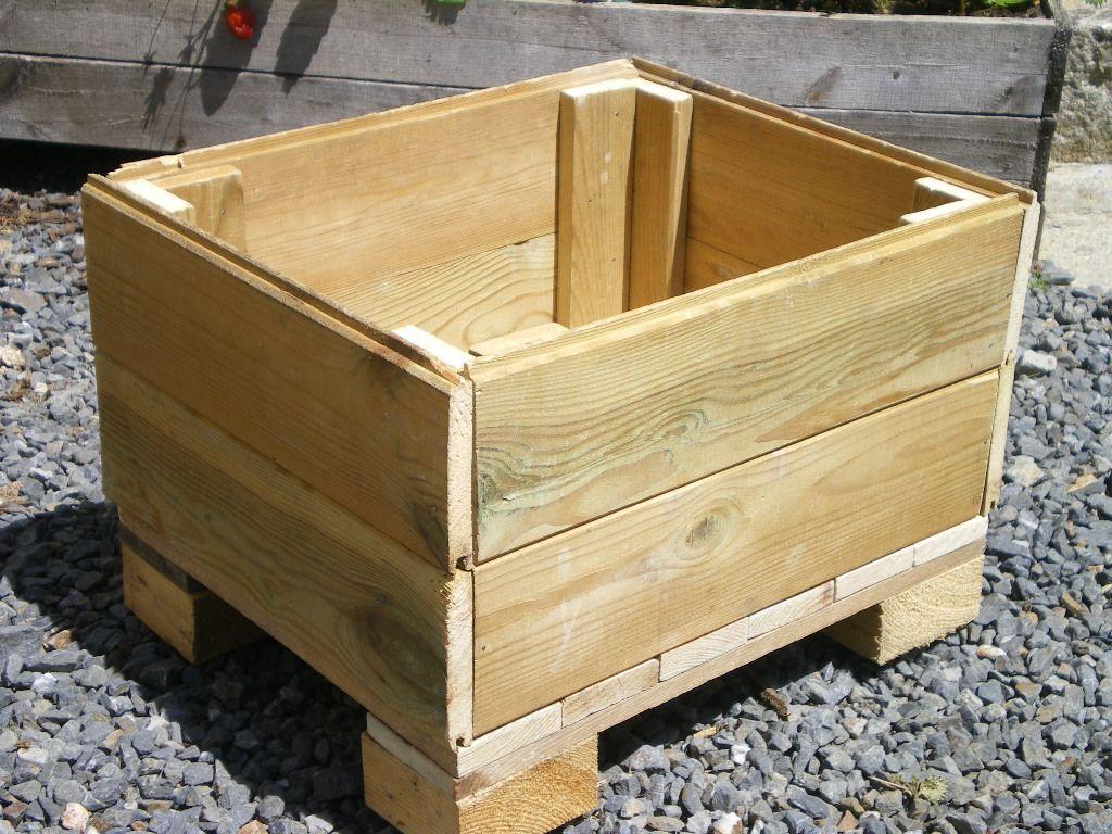 cr ation d 39 un bac fleurs instructions de bacs de jardinage backyard terrace et palette. Black Bedroom Furniture Sets. Home Design Ideas