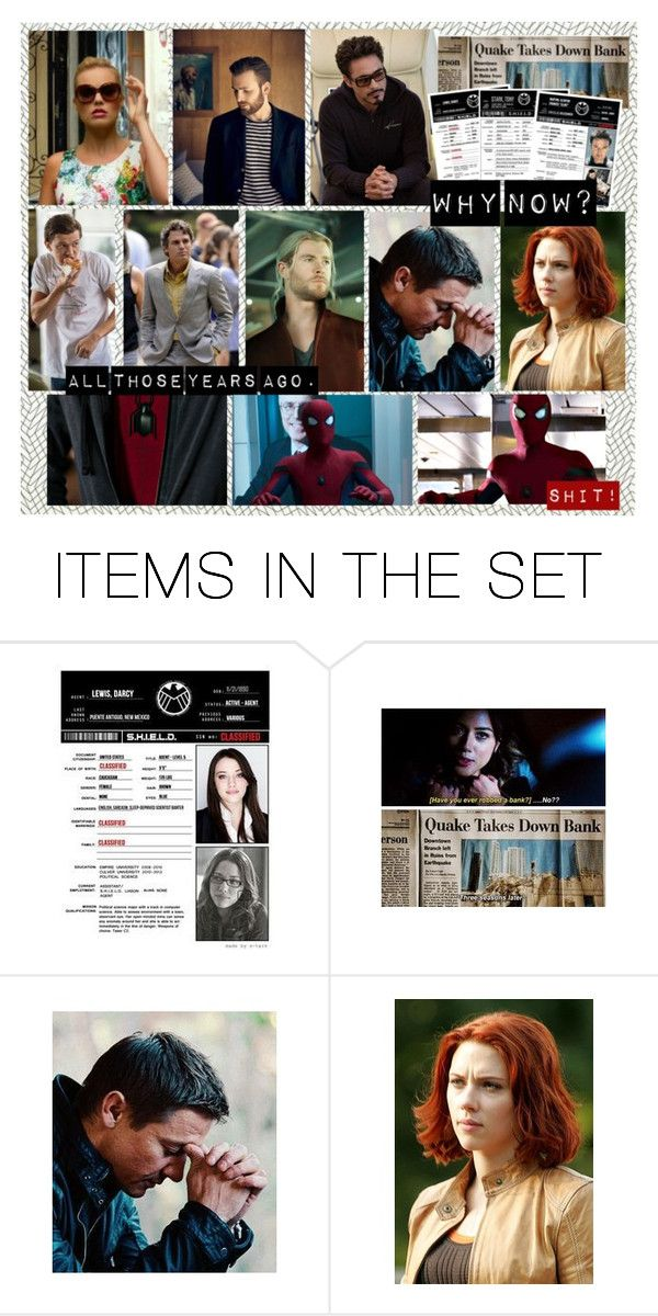 """""""Years ago  - Harleen Quinzel (Harley Quinn) + Steve Rogers (Captain America)"""" by samantastark ❤ liked on Polyvore featuring art"""