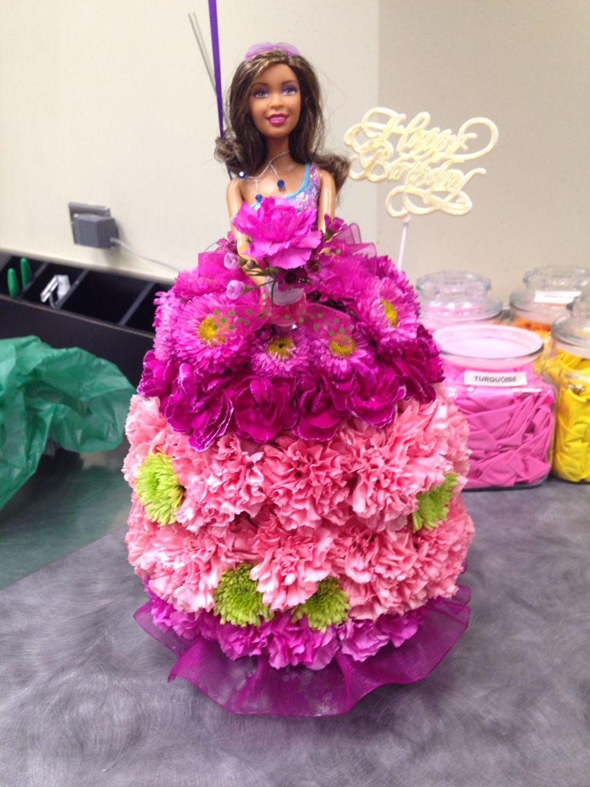 barbie centerpiece different color carnations honolulu 2014