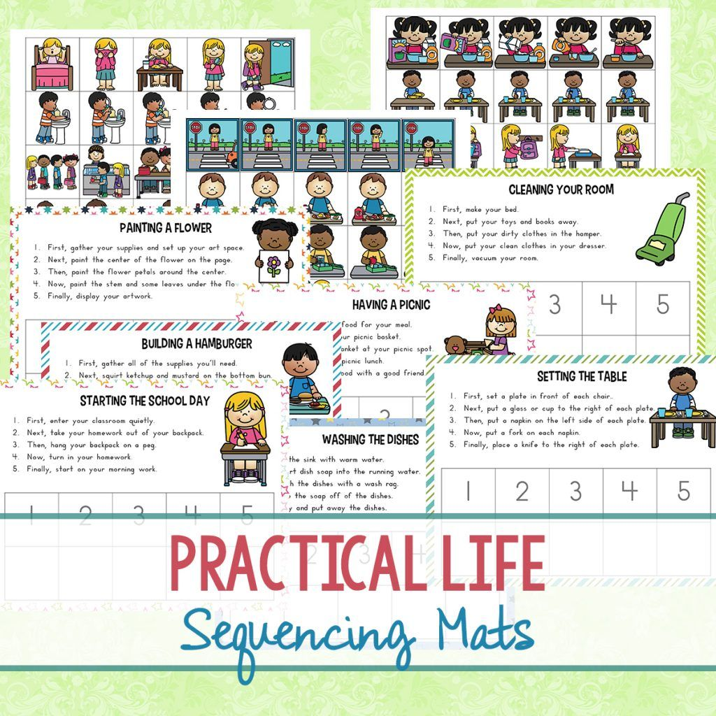 Practical Life Skills Sequencing Mats