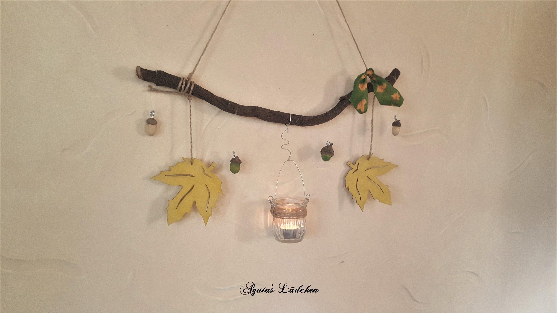 Herbst Deko Mit Windlicht Dekoast Im Landhaus Stil Dekoration