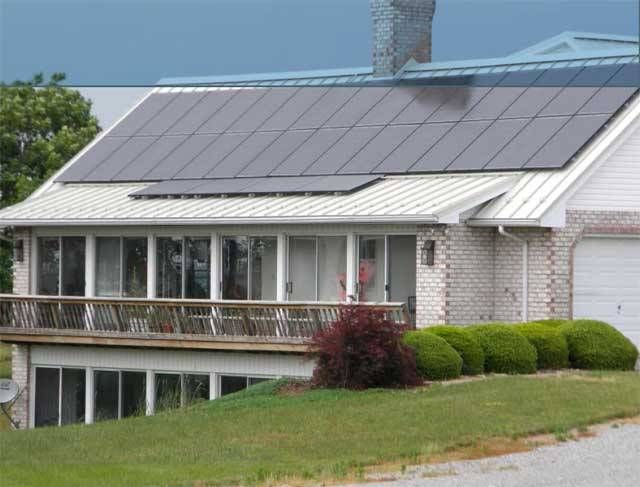 White Standing Seam Metal Roof With Solar Panels   Google Search