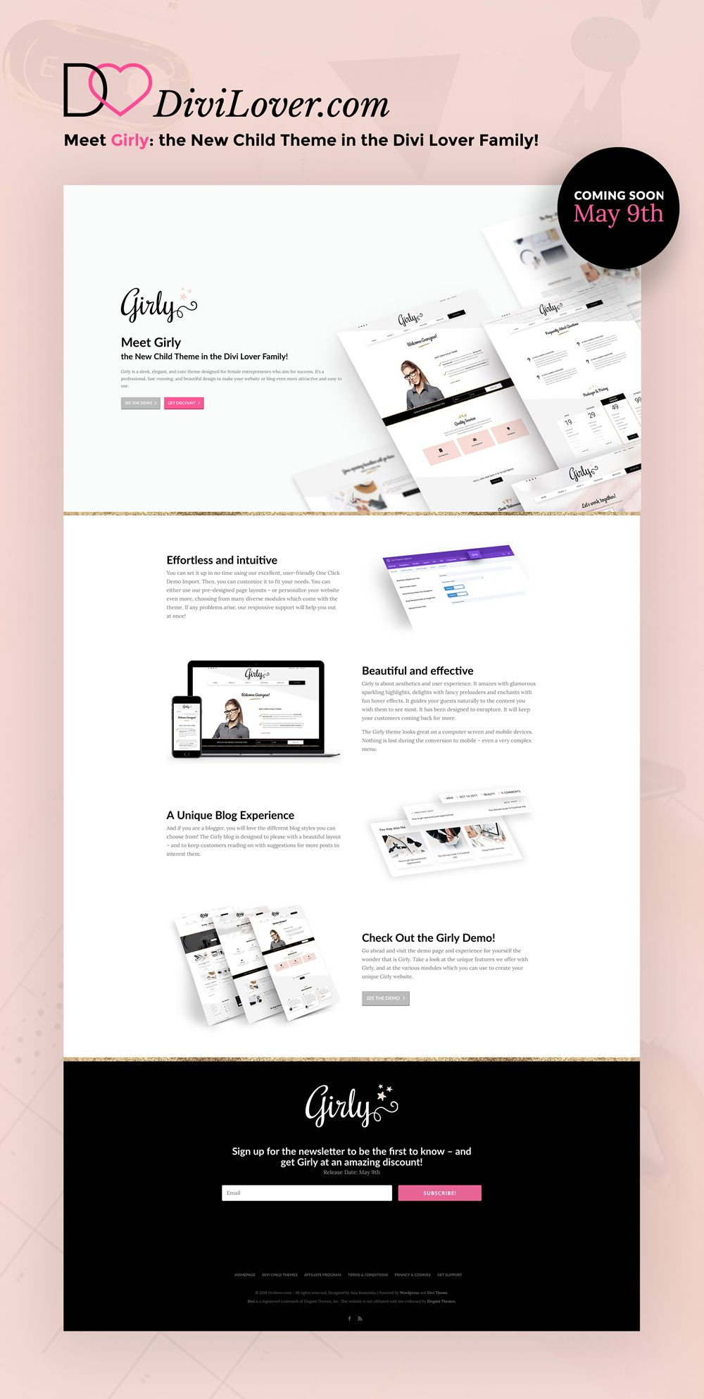 Girly B3 Multimedia Solutions Girly Web Design Cute Themes