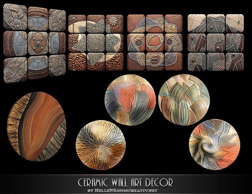 Lana Cc Finds Ceramic Wall Art Decor By Hellen