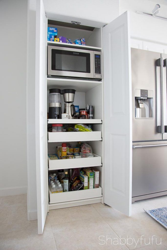 How To Build A Hidden Coffee Station and Microwave - shabbyfufu.com