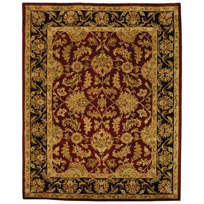 Safavieh Heritage Red Area Rug Hg628c 5 Wool Area Rugs Traditional Area Rugs Floral Area Rugs