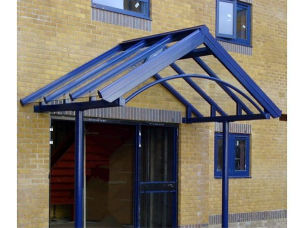 363 Supported Apex Glass Canopy Offices HMS Raleigh