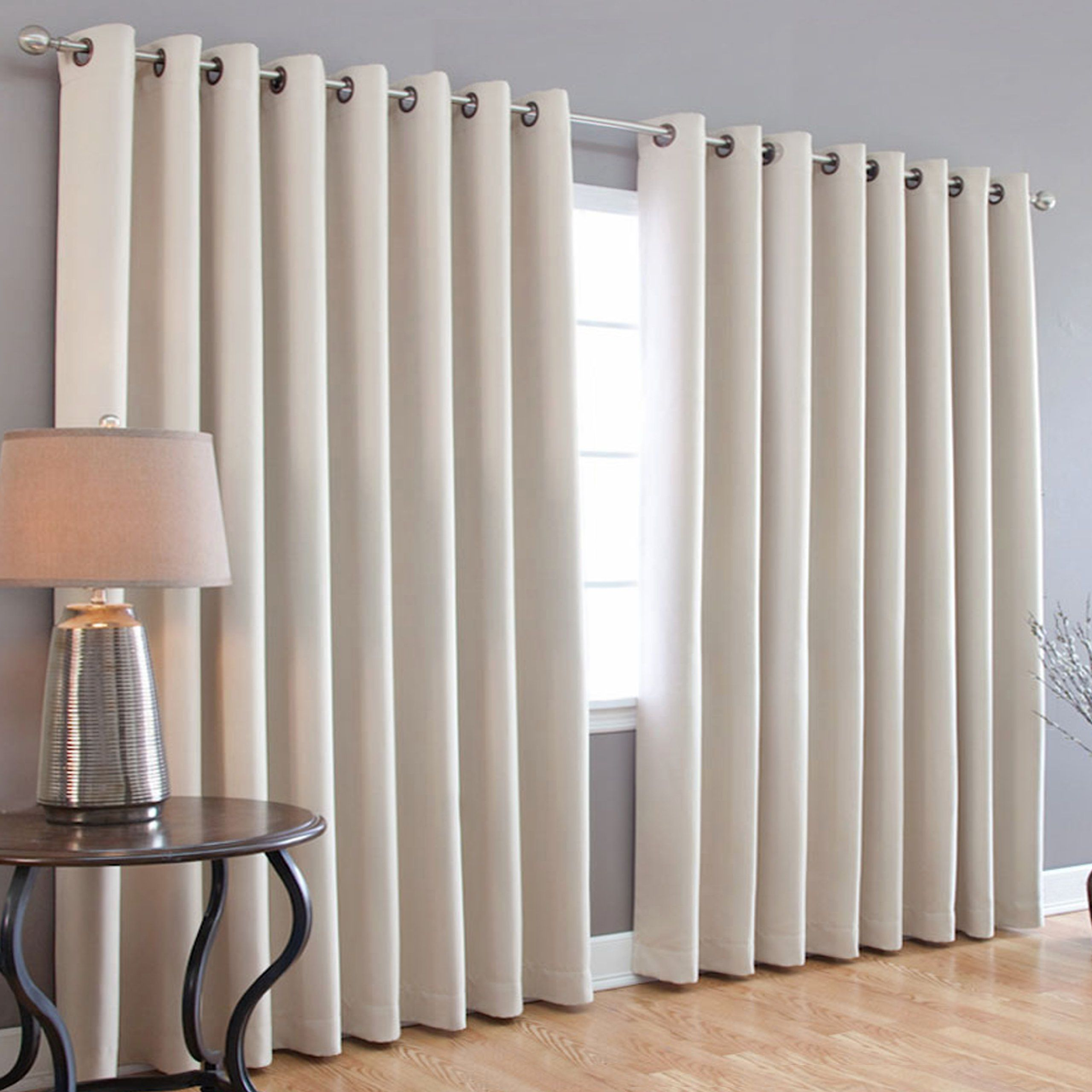 Best Home Fashion Thermal Blackout Curtain With Wide Width Grommet Top 100 Inch By 95 Beige Window Treatment Curtains