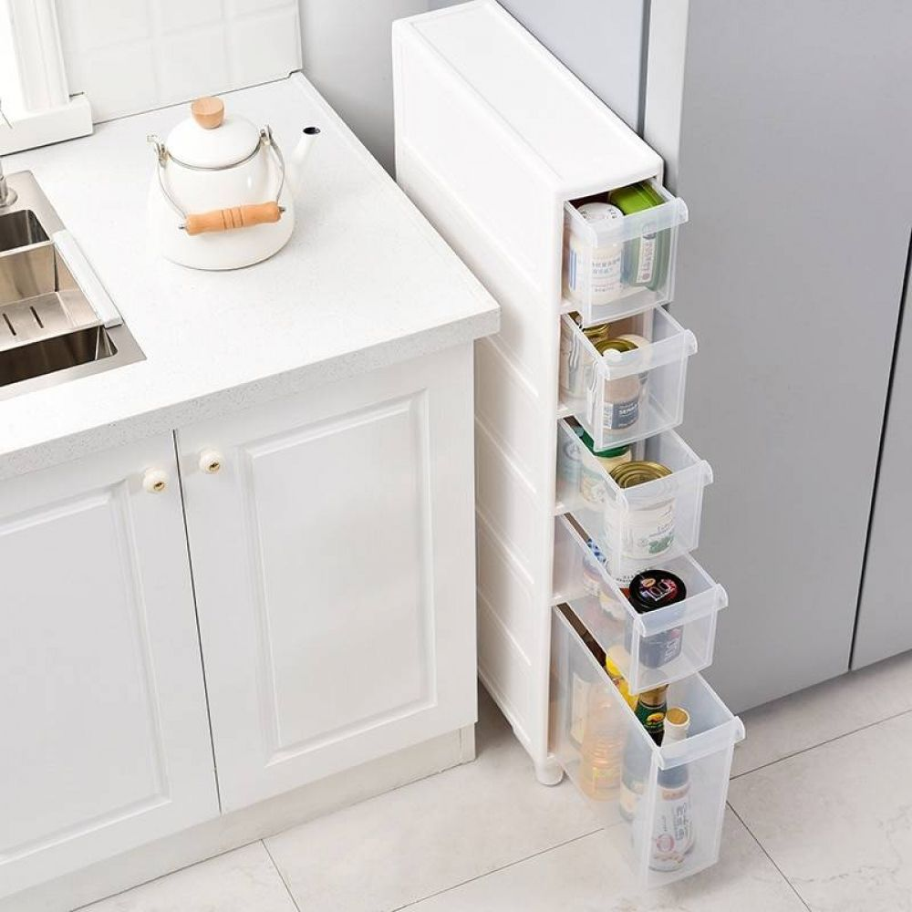 Fridge Side Plastic Drawer Organizer Type Locker Cabinet Pulley Misspon In 2020 Plastic Drawer Organizer Kitchen Storage Shelves Storage Drawers