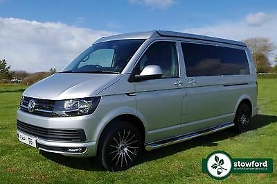 VW T6 Campervan Highline LWB Silver Alloy Wheels SCA Pop Up Roof Rib S