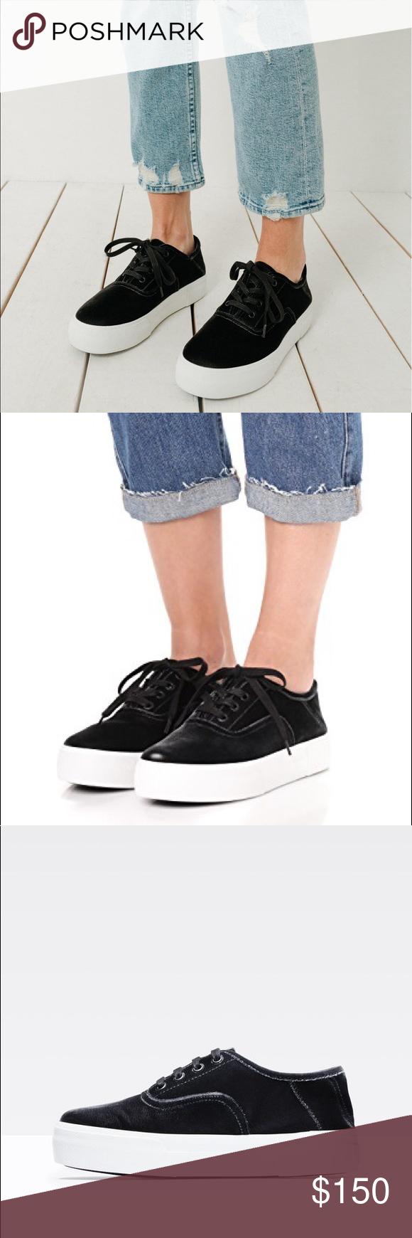 95099161fc9a Vince Copley Platform Velvet Sneaker in Black Super cute pair of Vince  Copley Sneakers in Black Velvet. A wardrobe-essential sneaker becomes the  height of ...