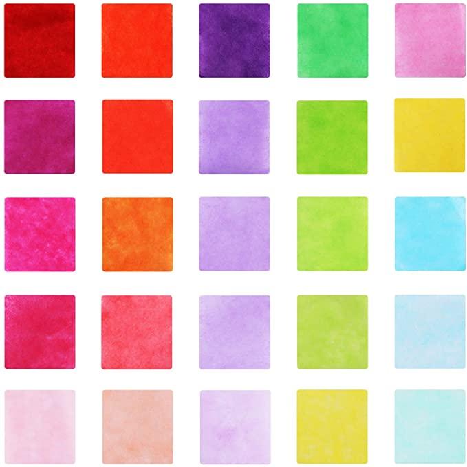 2500 قطعة مربعات مناديل ورقية ملونة مربعات مناديل مقاس 2 54 سم في 25 لون ا من أجل الأعمال الفنية والحرفية Amazon Ae In 2021 Decor Home Decor Rugs