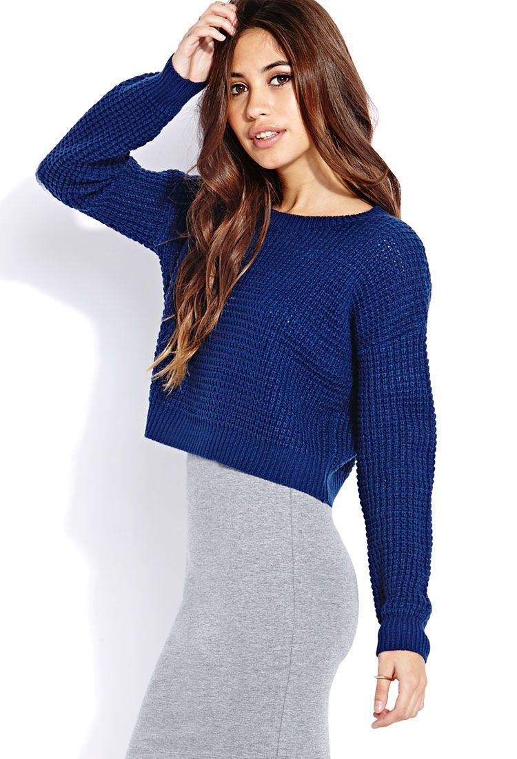 Cozy Cropped Sweater | FOREVER21 - 2000074098 | Tailored, timeless ...