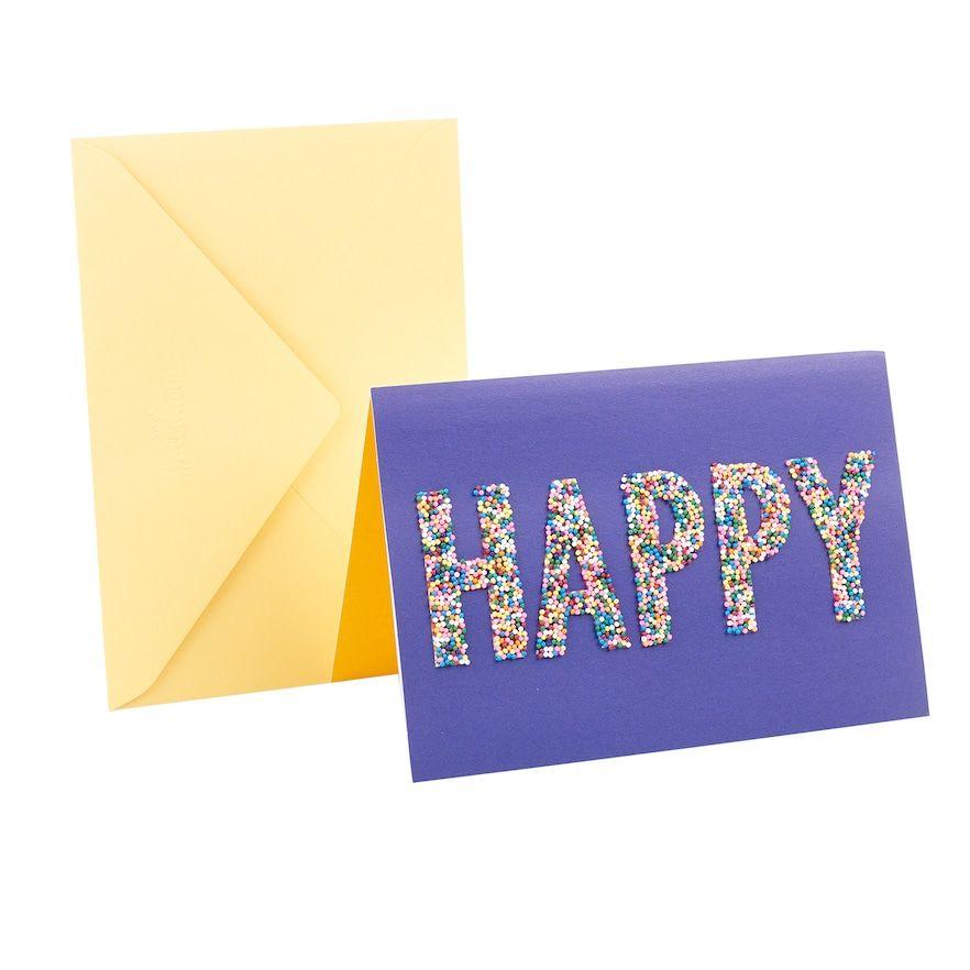 Hallmark signature birthday happy sprinkles greeting