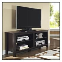 Walker Edison Rustic Wood Tv Stand For Tvs Up To 60 Espresso