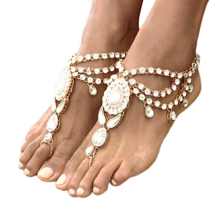 Amazoncom Ingemark 2 PCS Crystal Beach Wedding Foot Jewelry