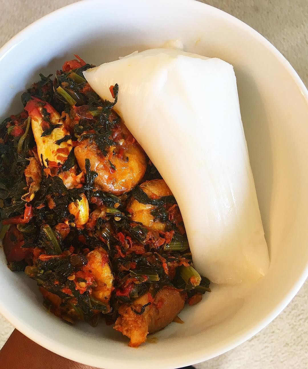 Eko Cuisine Lunch Agidi Eko And Efo Riro Agidi Made With Yumfoods Mn