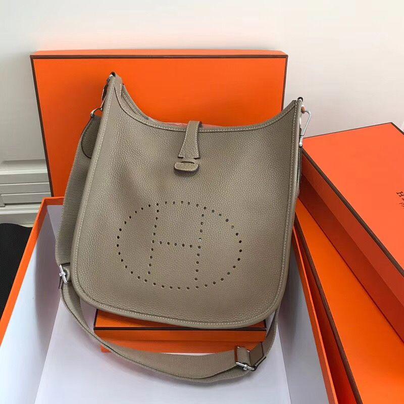 2242139efb6c Hermes Evelyne III Bag in Togo Leather 28cm Grey
