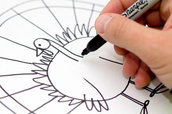 How To Draw A Turkey - Art For Kids Hub -   Turkey art ...